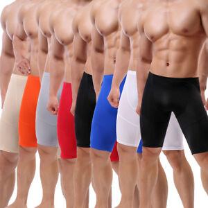ea0a345c9b3f Men's Tight Middle Pants Brief Sport Short Leggings Fitness Gym ...