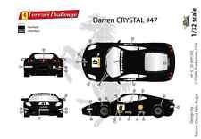 "[FFSMC Productions] Decals 1/32 Ferrari F-430 Challenge ""Darren Crystal""  2011"