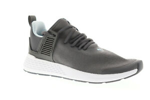 Puma-insurge-36738507-Homme-Grise-Toile-Lacets-Decontractees-Low-Top-Sneakers-Chaussures