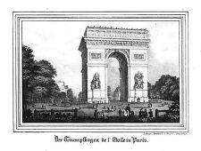FRANKREICH**PARIS**ARC DE TRIOMPHE DE L'ÉTOILE**LITHOGRAPHIE**1845**