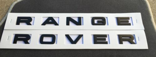 RANGE ROVER MATT Black LETTERS HOOD TRUNK TAILGATE EMBLEM BADGE NAMEPLATE NEW