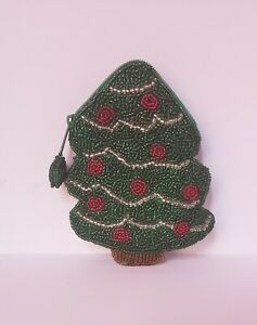Vintage-Christmas-Tree-Beaded-Coin-Purse-stocking-stuffer