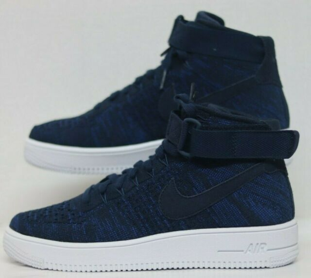 best sneakers 07f75 fda55 Nike AF1 Ultra Flyknit MID College Navy/College Navy 817420-401 Men Size's