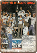 "1981 Skyway Wheels BMX Racing Freestyle 10"" x 7"" retro metal sign"