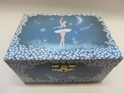 süßes Schmuckkästchen Schatulle mit Spieluhr tanzende Ballerina und Sterne NEU Spieldosen