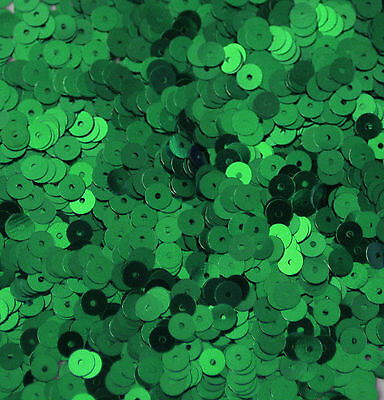 Competent 5mm Flat Sequin ~ Green Shiny Metallic ~ Loose Paillette Made In Usa