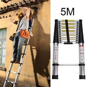 5M Portable Heavy Duty Multi-Purpose Aluminium Telescopic Extendable Ladder