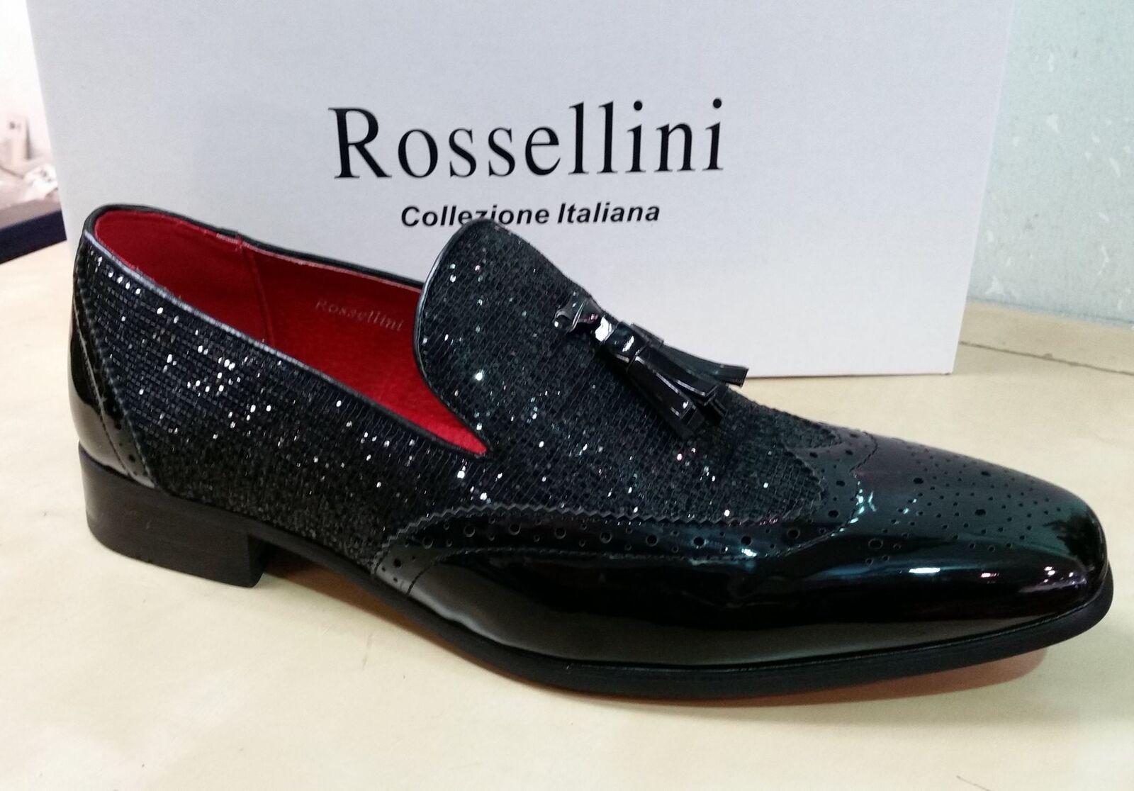 Rossellini Antonio Patent Mens Leather Lined Brogues Patent Antonio Tassle Loafer Shoes 67f43e