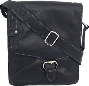 UNICORN-Sacchetto-Cuoio-Genuino-iPad-Tablet-accessori-Borsa-Nero-3M