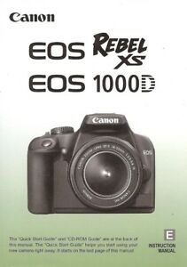 canon eos rebel xs 1000d digital slr camera owners instruction rh ebay com Canon Digital Rebel XS Manual Canon EOS 1000D Tren Tay