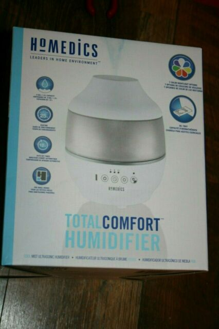 Homedics TotalComfort Humidifier UHE CM18 Cool Mist Ultrasonic 7 Color Nightlite