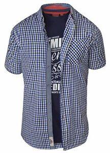 D555-Men-039-s-Jaiden-King-Size-Short-Sleeve-Shirt-amp-T-Shirt-Pack