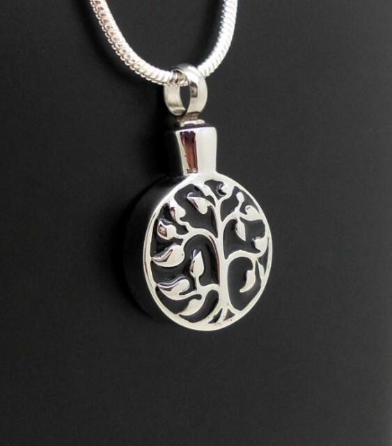 S/Steel Tree Of Life Memorial Keepsake Cremation Funeral Urn Pendant Jewellery