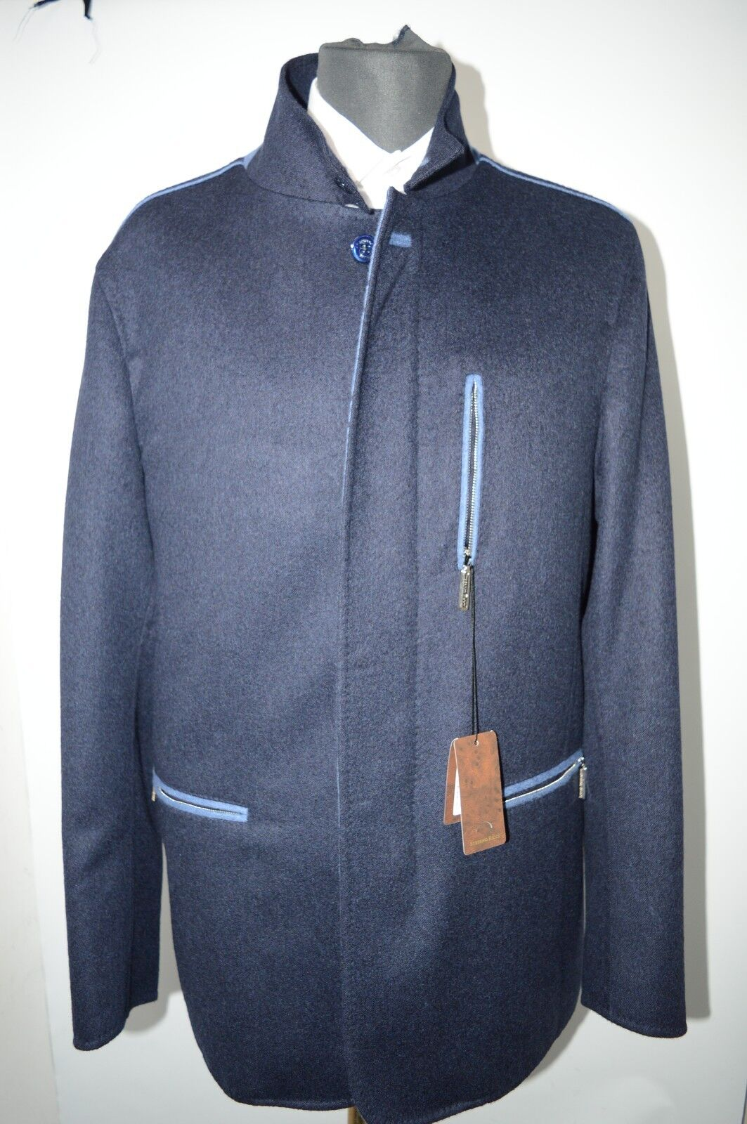 NEW 21350,00  STEFANO RICCI  Outwear Top Over Coat Cashmere Us M Eu 50 (G54)