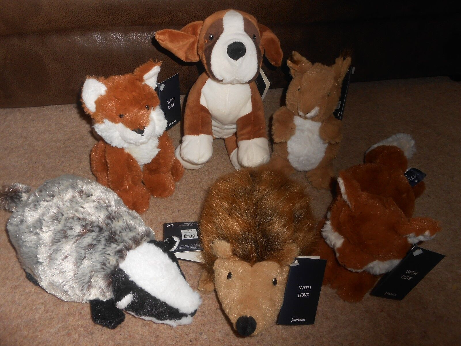 JOHN LEWIS BUSTER BUSTER BUSTER THE BOXER & FRIENDS COMPLETE SET e62abb