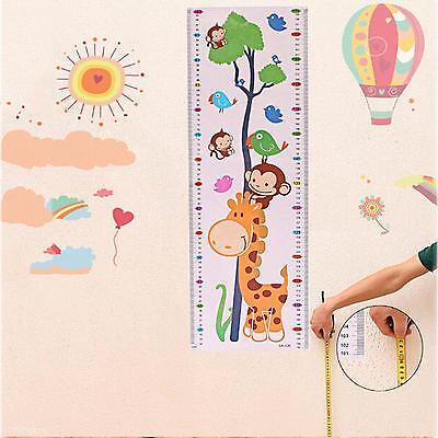 Boy Girl Cartoon Growth Height Measure Chart Home Living Room Decal Wall Sticker