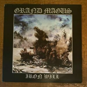 Grand Magus – Iron Will LP Rise Above Records (silver or white... I can't tell)