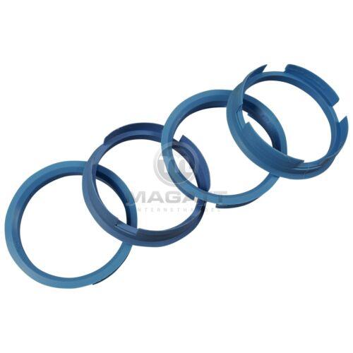 Anelli di centraggio 4x 72,6-64,2 mm BLU CHIARO BROCK KESKIN OXIGIN RC-DESIGN