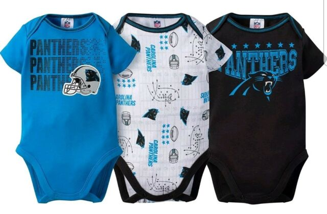 f70547337 NFL Carolina Panthers Boys 3-piece Bodysuit Set 3 to 6 Months With ...