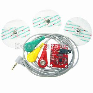 Single Lead AD8232 Double Poles Pulse Heart Rate Monitor ECG Sensor Module Kits