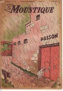 Détails sur FRANQUIN couverture Moustique 35 1947