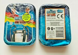 **TOPPS MATCH ATTAX CHAMPIONS LEAGUE FOOTBALL 2017-2018 SEALED COLLECTORS TIN**