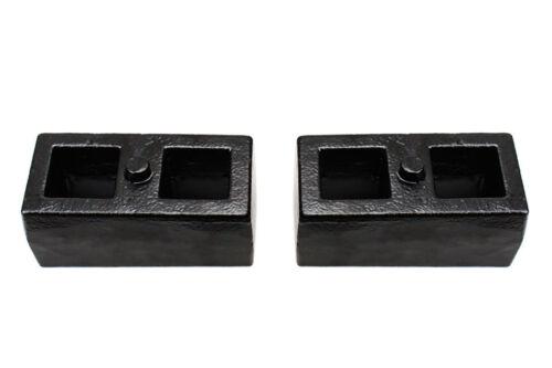 "U-bolts 1.5/"" Rear Lift Kit 2007-2018 Chevy Silverado GMC Sierra 2WD//4WD Blocks"