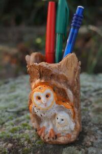 Mo0475 Figurine Statuette Pot A Crayon Hibou Chouette Gdxdzrx7-07222852-357496547