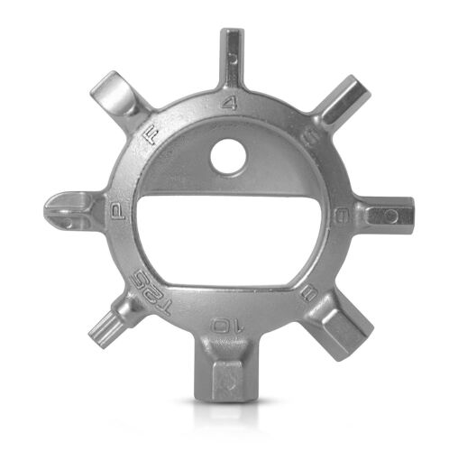 Allen Flat Reductivist Compact Multi Tool Key Chain Ring with Phillips Torx