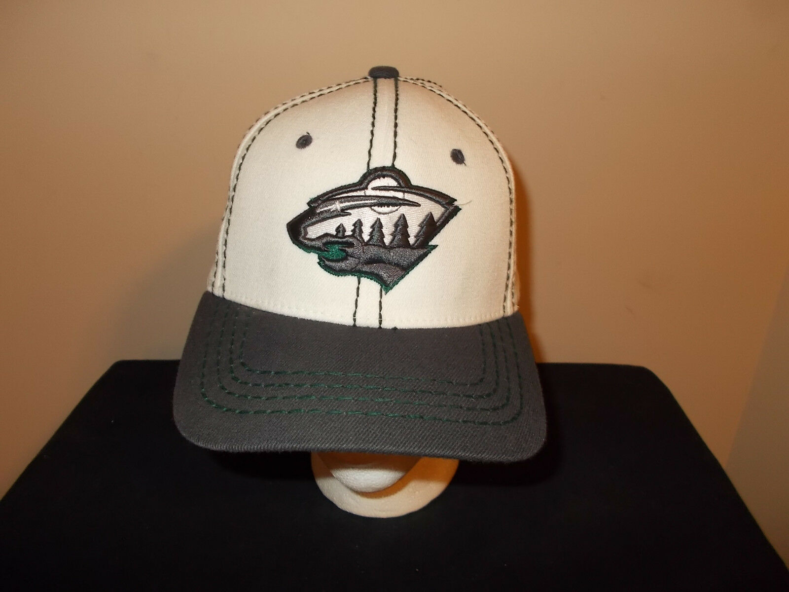 Minnesota fitted Wild Zephyr Med/Large NHL fitted Minnesota hat sku23 f30bf2