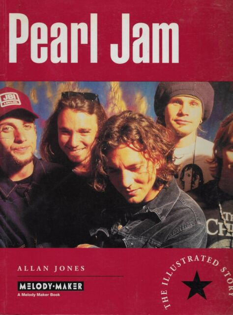 PEARL JAM  The Illustrated Story  large paperback book from 1994