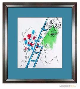 Marc-CHAGALL-LITHOGRAPH-Limited-Edition-ORIGINAL-Ladder-57-Custom-FRAMING