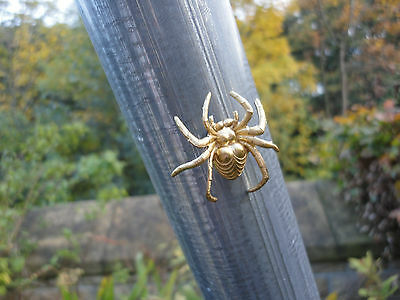 Solid brass spider garden decoration a tiny magnet attaches to any metal