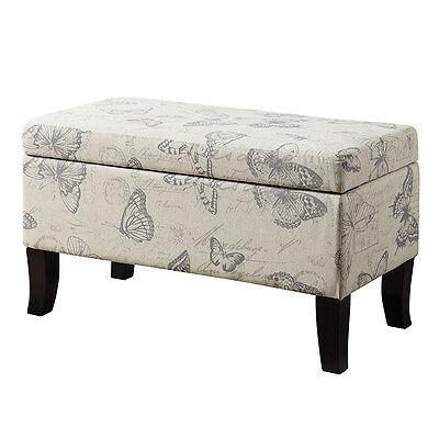 Phenomenal Butterfly Fabric Storage Ottoman Bench Lift Top Cushion Seat Bed Living Room New 683121460467 Ebay Customarchery Wood Chair Design Ideas Customarcherynet