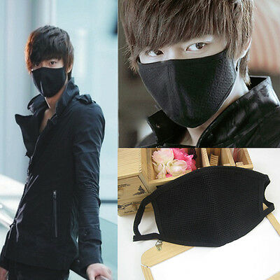 Unisex Black Cycling Healthy Cotton Anti-Dust Mouth Face Mask Respirator Gauze