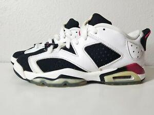 detailed pictures 01241 24d2e Details about Nike Youth Air Jordan 6 Retro Low 768878-107 White/Sport  Fuchsia/Black Sz 4Y
