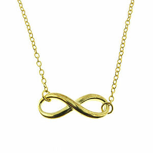 Details about  /Rose Gold Vermeil Infinity Choker Necklace Silver Necklace