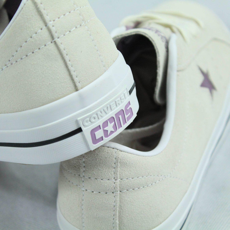 Converse One Star Ox Scarpe Da Scarpa Ginnastica Scarpa Da Pro in color panna/rosa tenue nel Regno Unito misura 6,7,8,9,10 55ad16