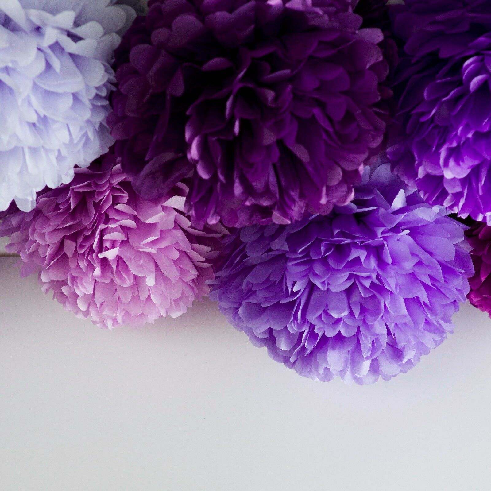 60 tissue paper pompoms - 6 Größes - wedding party decorations - multi Farbe