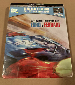 Ford V Ferrari 4k Steelbook Uhd Blu Ray Best Buy Exclusive Brand New Ebay