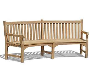 Image Is Loading Lansbury Curved Garden Bench Sustainable Premium Teak Patio