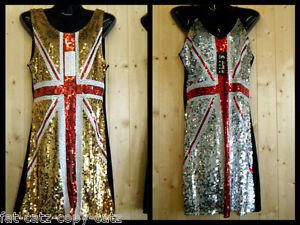 quality silver gold blue union jack england flag sequinned. Black Bedroom Furniture Sets. Home Design Ideas
