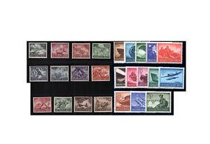 Timbres-Empire-Allemand-Wehrmachtssatze-1943-1944-Michel-Nr-831-843-Et