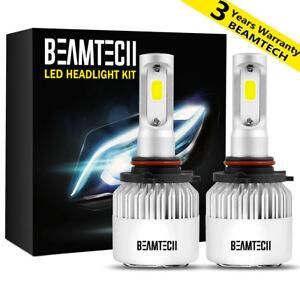 BEAMTECH 8000LM 9005 H10 HB3 LED HeadLight Bulbs Conversion Kit 50W High Beam