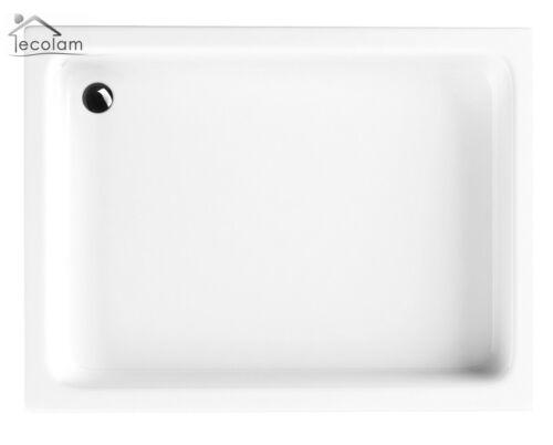 Duschwanne Duschtasse Rechteck 100x 80 x26 cm zum Befliesen befliesbar GRAWELLO