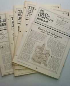 Vintage Old House Journal Magazine Home Repair and Restoration 1980 Six Journals