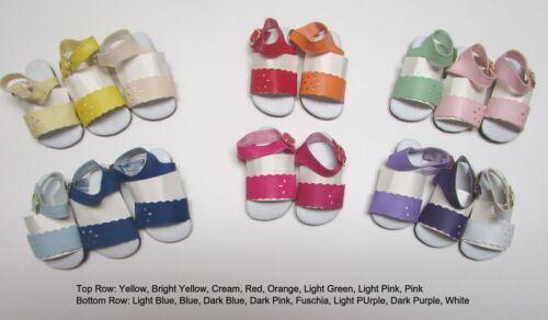 """Doll Shoes 69mm BLUE Sandals for Kidz Magic Attic 18/"""" Ann E BFC inc"""