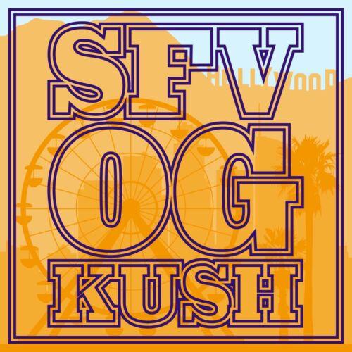 "Strainstickerz SFV OG Kush 420 1.5/"" Vinyl Cannabis Dispensary Stickers"
