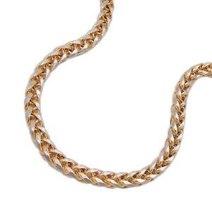 2-4mm-Armband-Zopfkette-Armkette-Armschmuck-585-Gold-19cm-Unisex-Goldarmband
