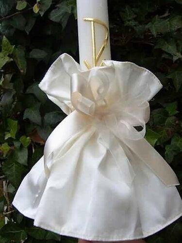 ❤ kerzenrock Bougies Bijoux kerzentuch Crème//Ivory par Communion Robe Robe de mariée